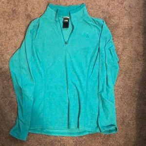 North Face 1/4 zip Sweater